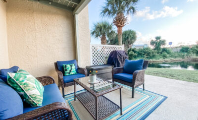 2ɴᴅ ᑕᒪOSEST TO TᕼE ᗷEᗩᑕᕼ! Lagoon Waterfront Townhome, No Golf Cart Needed!